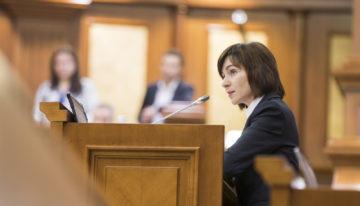 Discursul Prim-ministrului Republicii Moldova, Maia SANDU, înainte de votul pentru moțiunea de cenzură