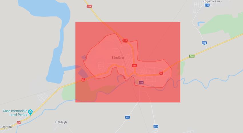 Ordonanța Militară nr.7 Data: 04.04.2020 ora 16:40 / Se instituie măsura de carantinare în orașul Țăndărei, județul Ialomița