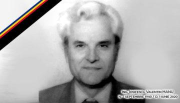Ing. MANU Iosifescu Valentin, președinte al Asociației Pro Basarabia și Bucovina, în perioada 1997-2004, a trecut la cele veșnice