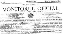 Document: Textul integral al Tratatului de la Trianon în Monitorul Oficial din 1920
