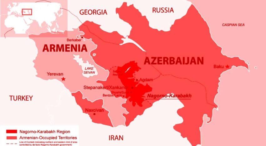 Nagorno-Karabakh / Esența escaladării militare dintre Armenia şi Azerbaijan. Cine sunt jucătorii importanți?