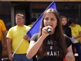 """Ariadna Cîrligeanu, președintele Tineretului AUR: """"Am intrat în politică la 18 ani""""."""