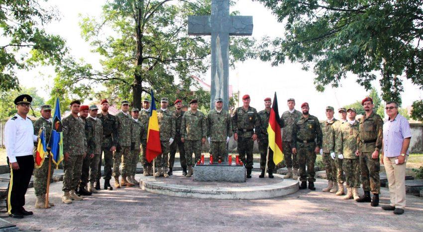 Tabără militară de lucru româno-germană la Focșani, cu participarea Brigăzii 8 ROT (Brigada 8 LAROM)